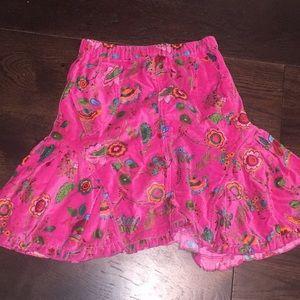 Mim-pi velvet ruffle skirt floral euro